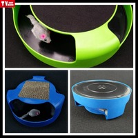 interactive cat Catch Moving Mouse chaseToys for kitten pets amusing play with training Scratch pad
