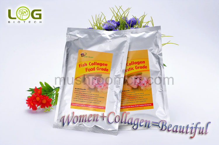 Pure hydrolyzed fish skin scale collagen powder