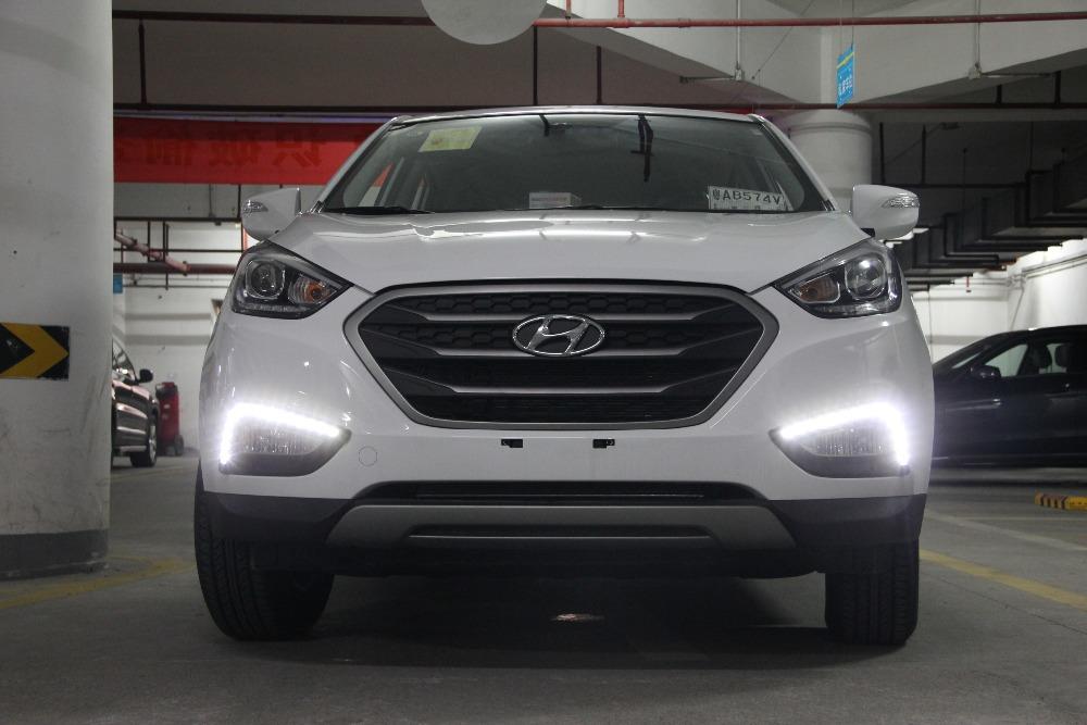 Hyundai ix35 daytime running light led drl fog lamps for Lamps tucson