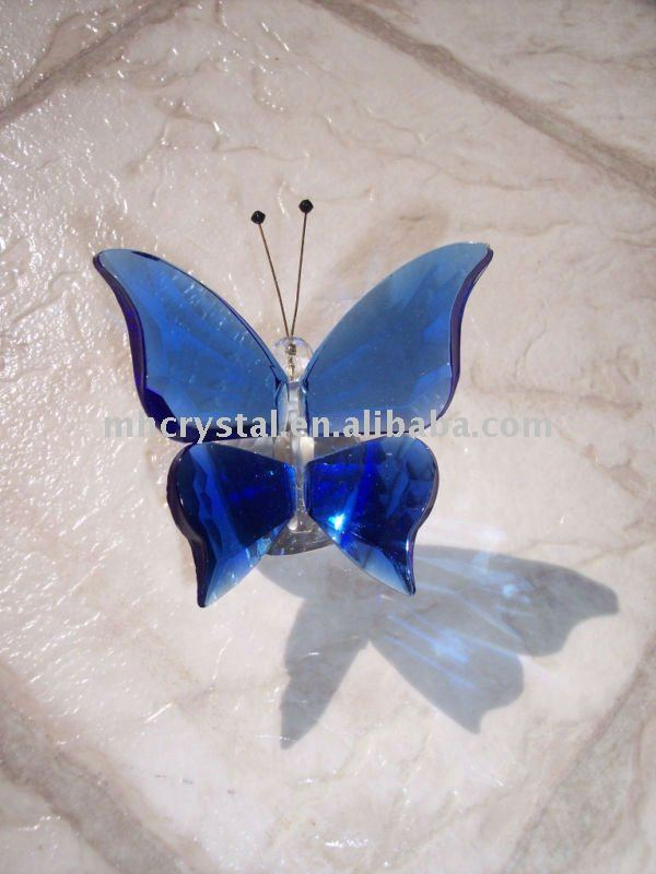 Blue Crystal butterfly figurines MH-D0208