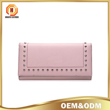 Fashion women Long wallet With rivet Women Multi-Card Holder Graceful Ladies Handbag