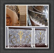 High Quality beautiful design Decorative Wrought Iron fence