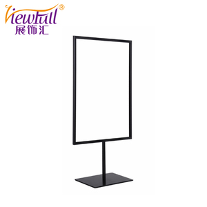 Customized smooth curve placard display stand