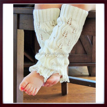 Kids Crochet Knitted Leg Warmers, Lace Trim Leg Warmers, Children Lace Cotton or Acrylic Baby Leg Warmers