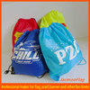 wholesale nylon cheap plastic drawstring bag