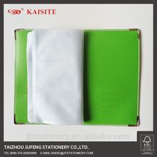 PU name card holder business card book with PVC pocket memorial leather golf score card holder