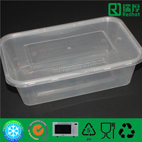 1250ml food grade plastic food containers for microwave use / instant food package