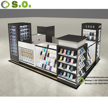 Mall approved mobile accessories display cellphone display kiosk