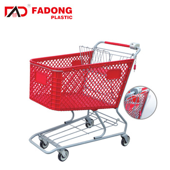 The most popular 4 round grocery shopping cart with lock for sale