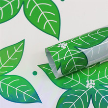 Green leaf shape plastic wrap for flower