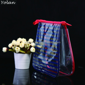 best selling colorful clear pvc cosmetic bag with custom print