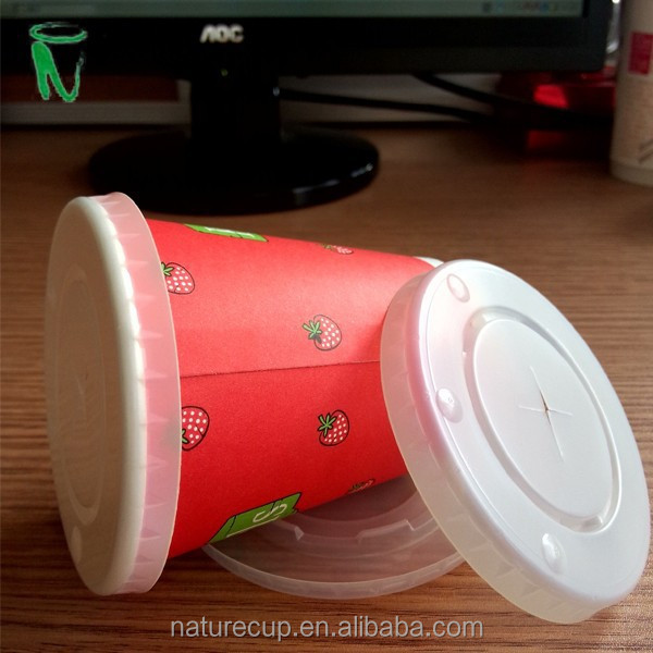 paper cup PS lid cold drink paper cover for 8 oz cups