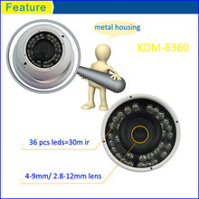 Modern CCTV Camera 30M IR ball dome with 4-9mm varifocal lens,Kadymay&OEM