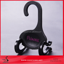Sinicline Hot small black plastic shoes hangers for display