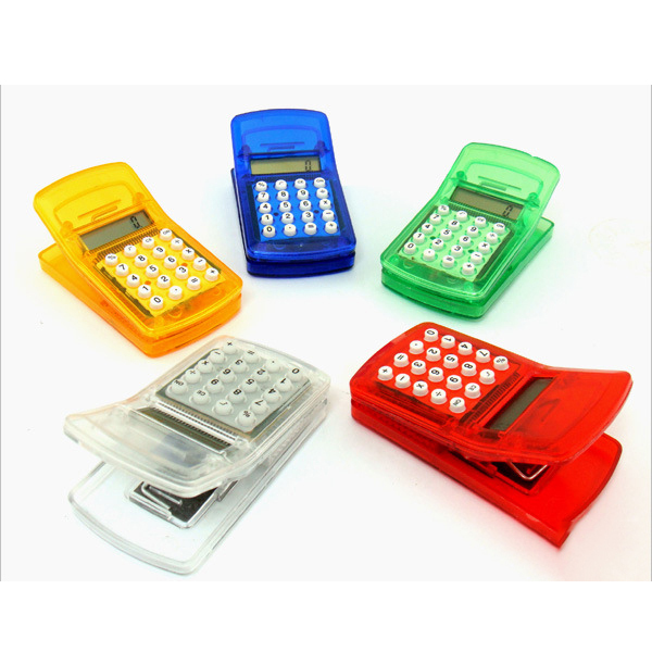 Mini clip magnet 8 Digit electronic scientific calculator