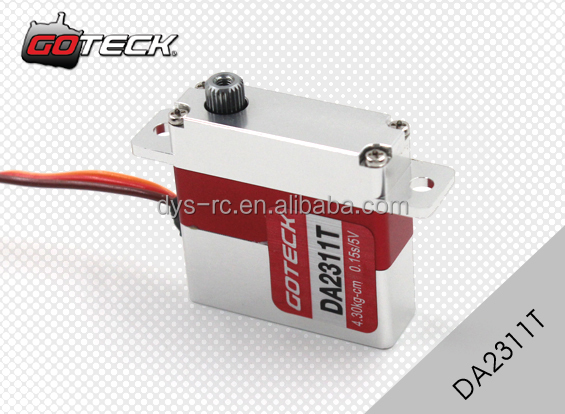 Goteck mini size low speed dc servo motor DA2311T with torque 4.3/5.2kg-cm for car model/ aircraft model