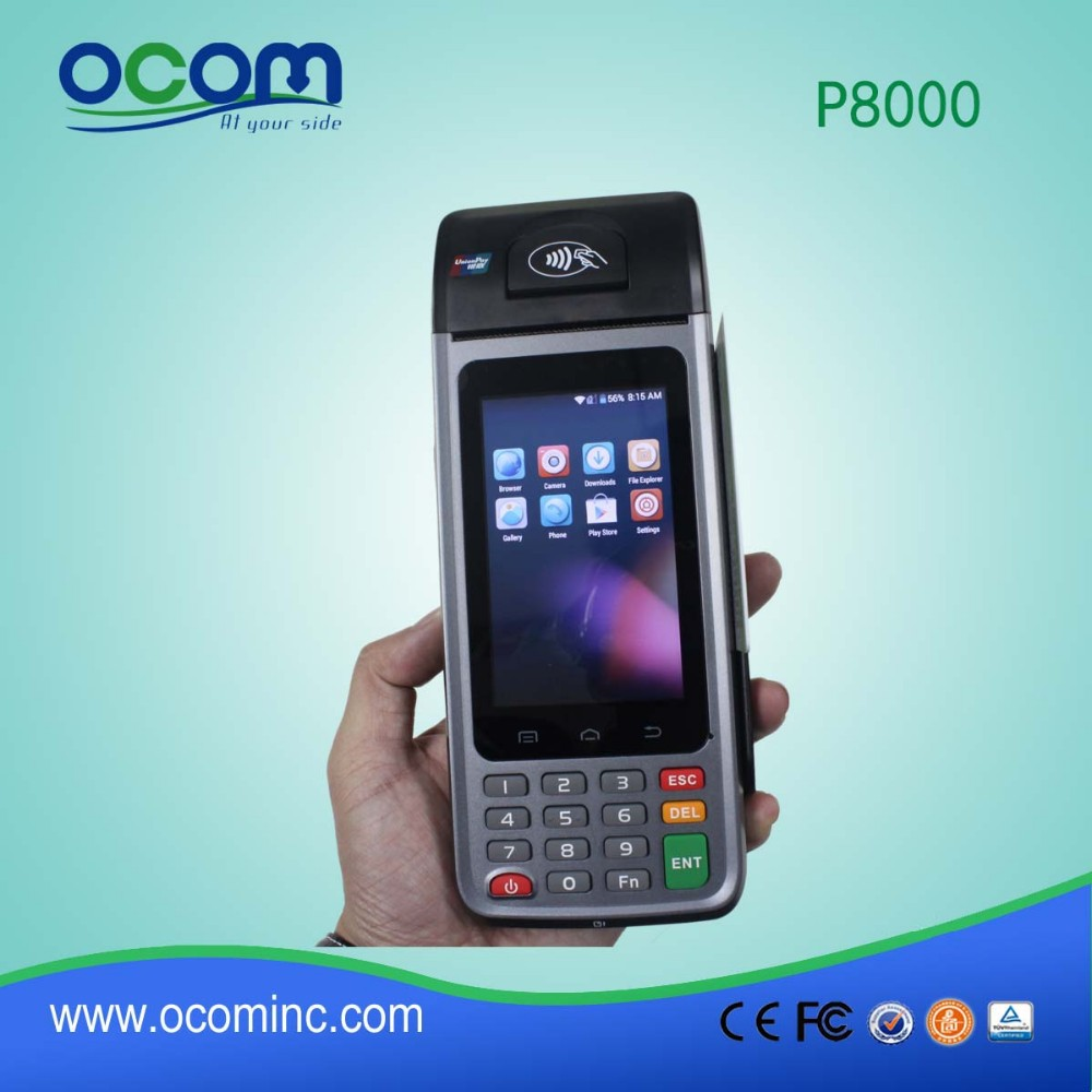 Android pos terminal with printer price (P8000)