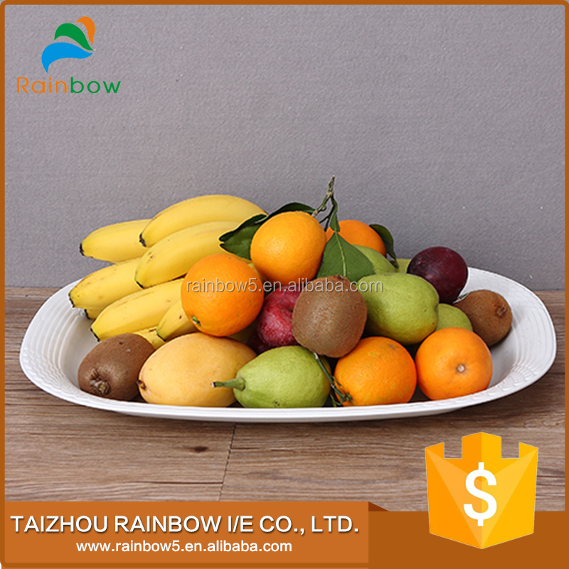 Best quality white metal dry fruit decoration tray