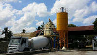 YHZS25 Small Mobile Concrete Batching Plant price for sale Concrete Mixing Plant