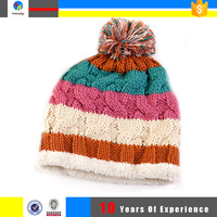 warmth funny knit winter ski pom pom hat hot sale
