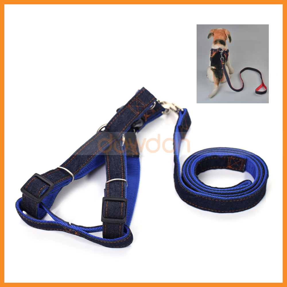 Nylon Cowboy Style No Pull Dog Leash Harness For Dogs Pet