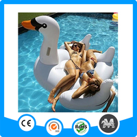 White inflatable swan giant inflatable swan swimming float promotion