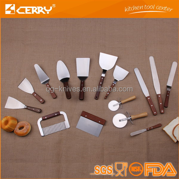 Professional stainless steel baking spatula