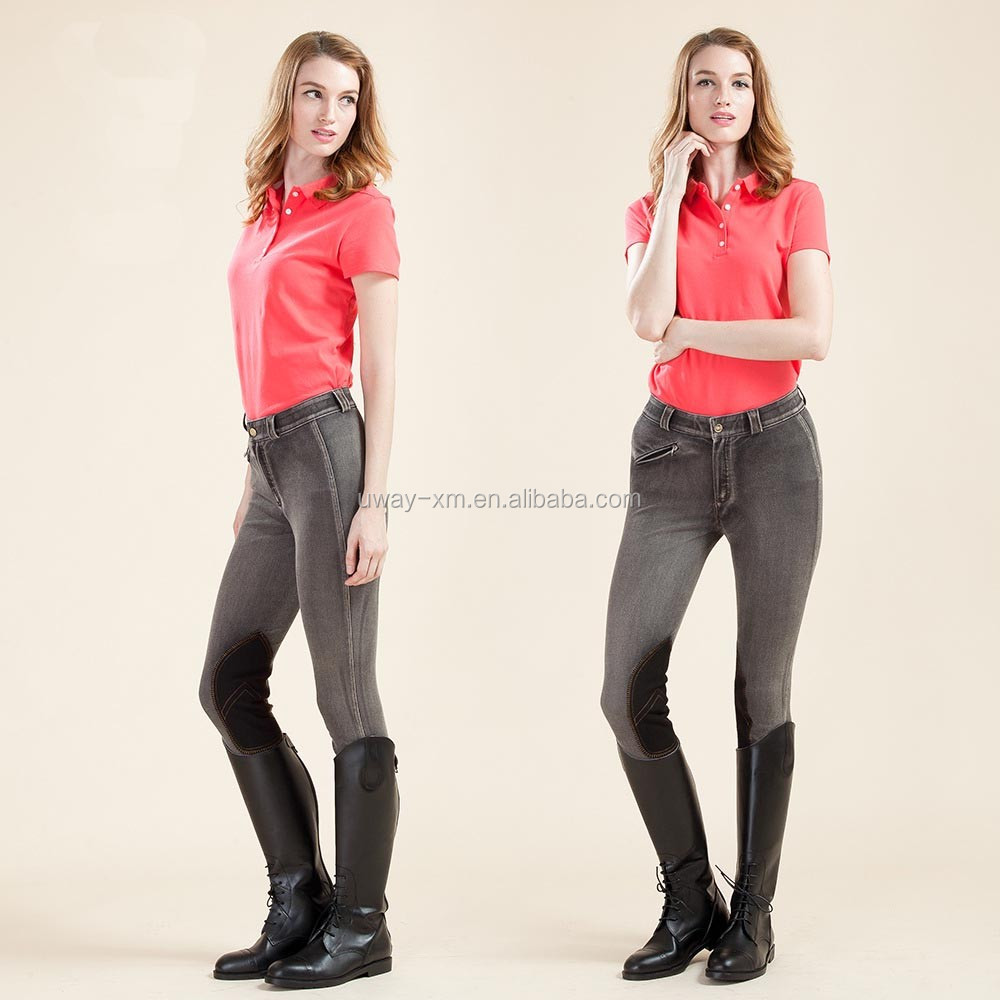 Newest full size equestrian half leather breeches