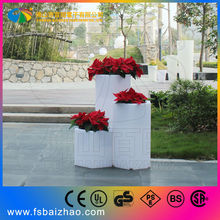 LED flower pots with plant growing light
