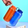 Orange Blue Color Plastic Sports Bottle 1000ml,2 Pack Gift Set,Easy To Carry