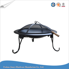 Round Iron Fireplace Indoor & Outdoor BBQ Wood Fire Pit