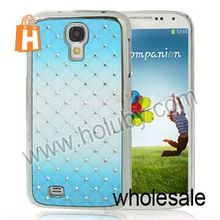 Shining Diamond Grids Pattern Electroplate Aluminum Hard Case for Samsung I9500 Galaxy S4 SIV I9505 I9508