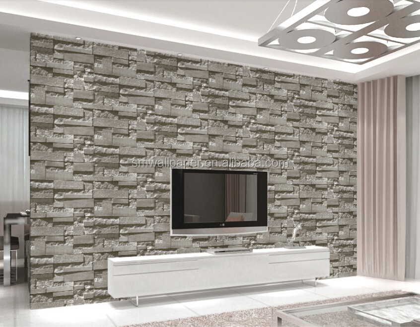 New Deisgn Vinyl Pvc Brick Design Wallpaper Made In China