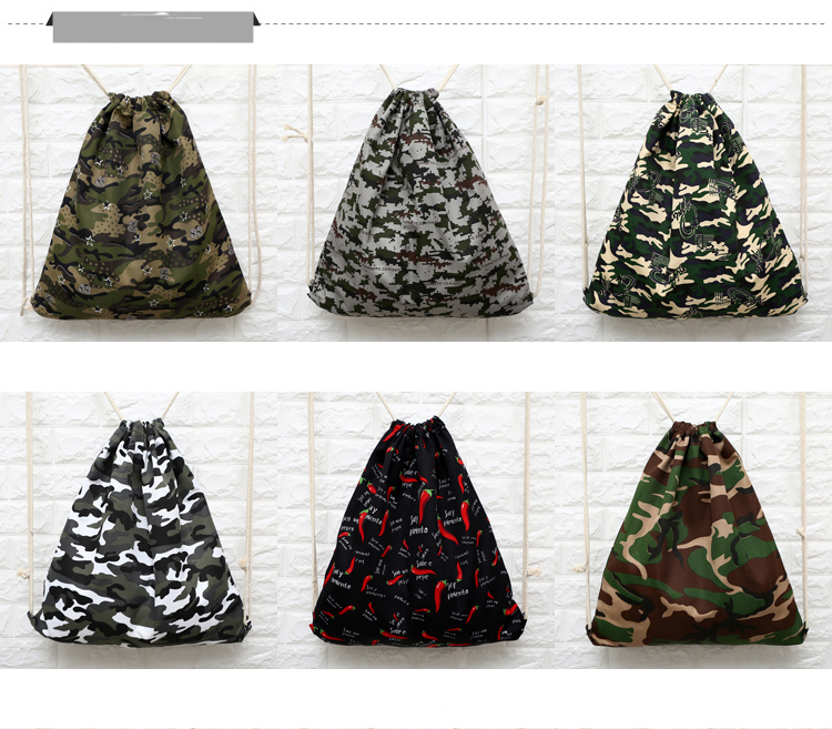 Camo Full Printing New Style Promotional Drawstring Bag