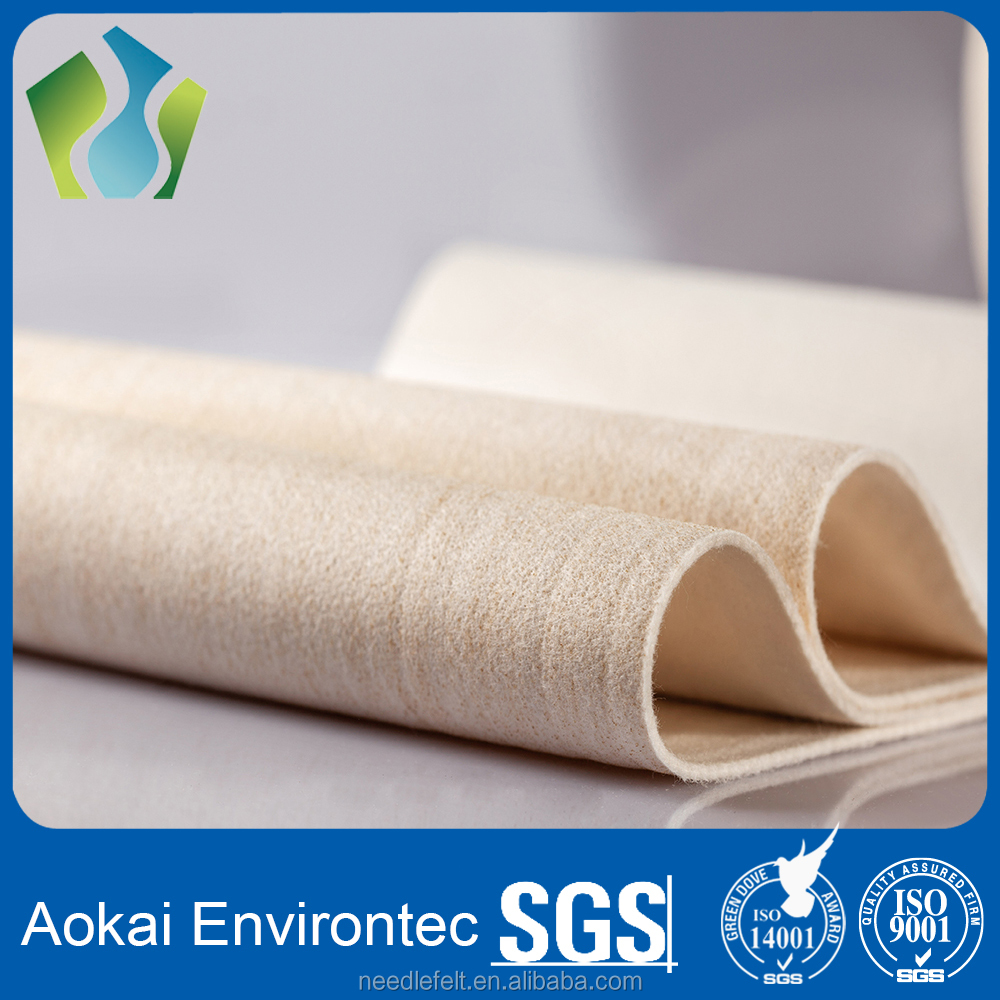 Chinese supply Aramid Nomex Non woven Needle felt For Dust Collector bags
