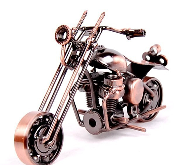Iron Home Decoration Metal Craft Motorcycle Models