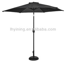 Waterproof 7feet patio beer band printing advert umbrella with airvent