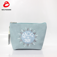 fashion printing cosmetic beauty bag for makeup trendy pouch