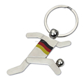 Metal Craft Football Player Keyring Belgium Souvenir Gift Sport Fans Keychain Soccer Player Custom Flag Key Ring