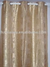 fashion window jacquard ready-made curtain with 8 rings or loops