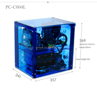 PC-C004L can Install 320mm Graphics Card Transparent Chassis Custom Acrylic Cool Computer Case for Sale