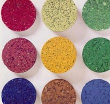 The process of color asphalt pigment material