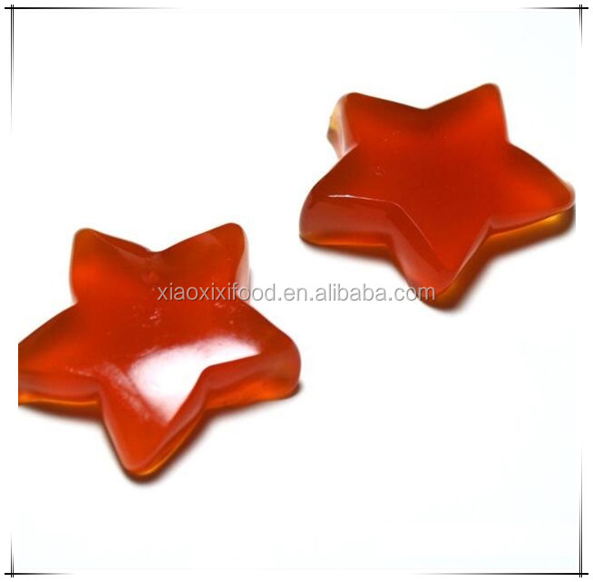 Cherry Flavour star shape HALAL gummy star jelly belly candy sweet factory hot sell