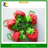 Fashion recycle foldable strawberry shopping bag