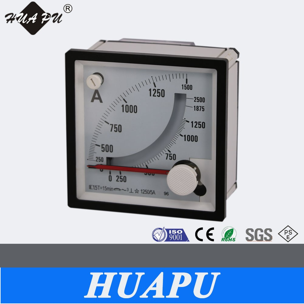 High quality supplier analog display only Max Demand meter Maximum Ammeter AC 250A 96*96MM 3 pointer type