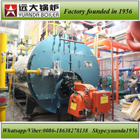 WNS fire tube wet back gas/oil industrial steam cast iron boilers