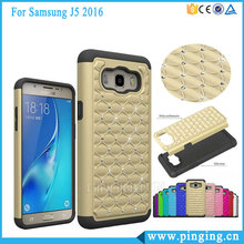 Newest 3 In 1 PC Silicone Bling Bling Diamond Mobile Phone Case For Samsung Galaxy J5 2016 J510
