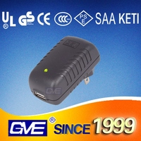 GVE various Wall Mount Plug 24V 0.75A ac/dc Power Adapter With CE UL