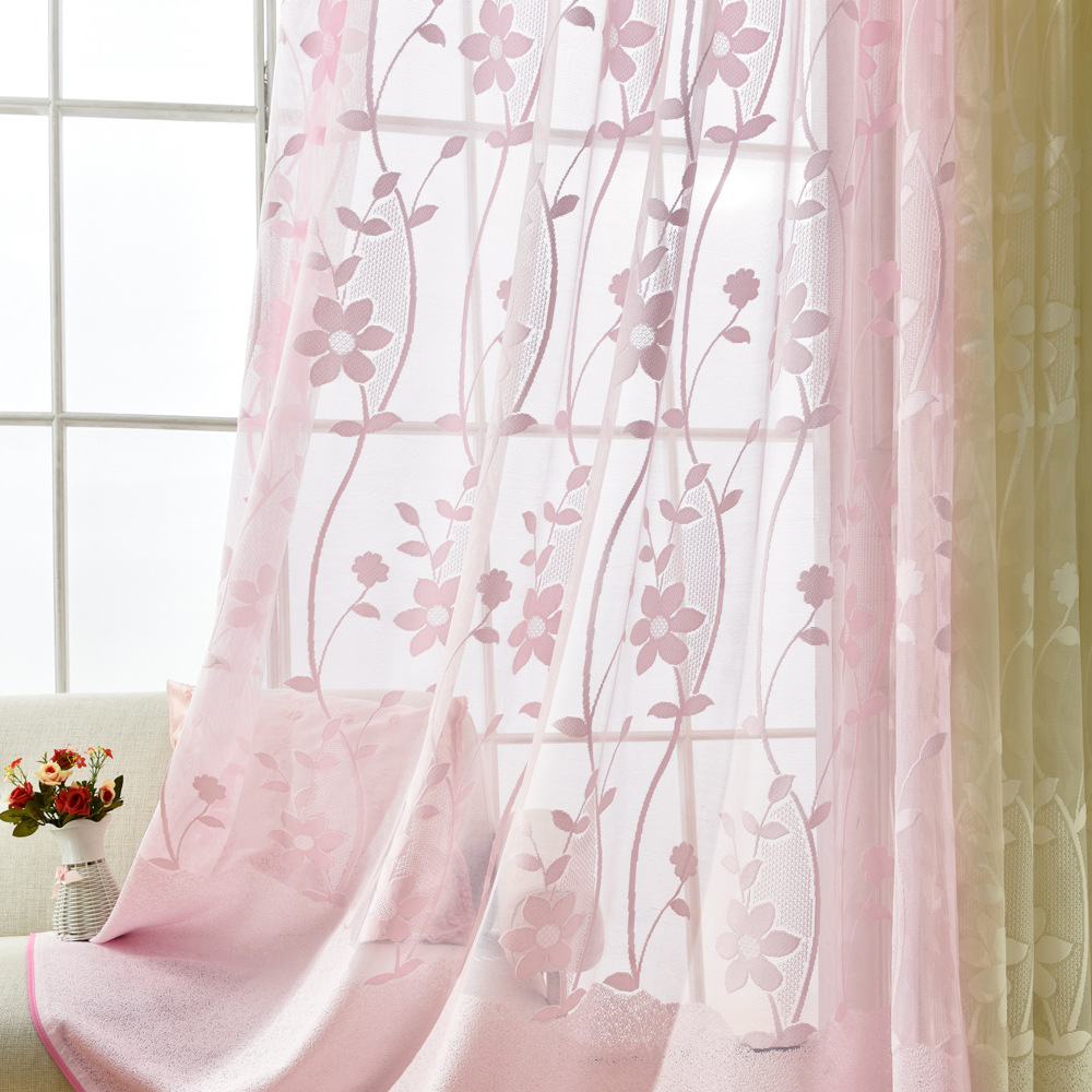 Contemporary and contracted small and pure and fresh bud silk screens to the bedroom of children room sitting room use powder ya