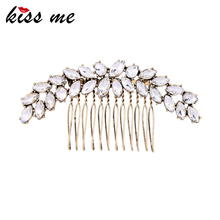 Top Quality Wedding Bridals Headwear Shine Large Crystal Flower Hair Comb Fashion Floral Hair Jewelry Wholesales